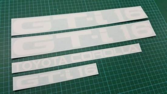 Picture of Toyota Corolla AE82 / 92 GT-i 16 replacement side & rear  Decals / stickers
