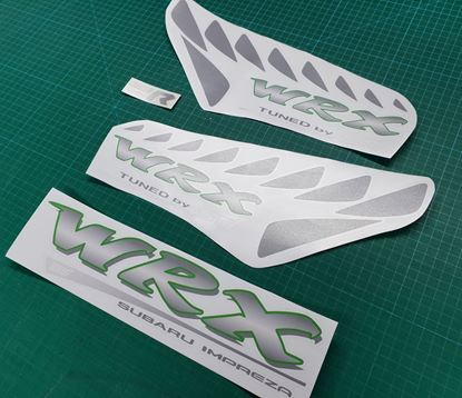 Picture of Subaru Impreza WRX  STi Type R replacement sides & hatch Decals / Stickers