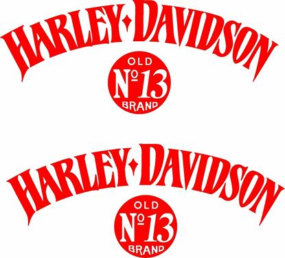 Picture of Harley Davidson Old No 13 panel / Tank  Decals / Stickers
