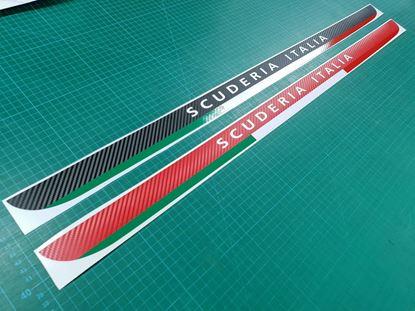 Picture of Fiat 595 / 500 Abarth Carbon fibre Scuderia Italia lower Hatch Decal / Sticker