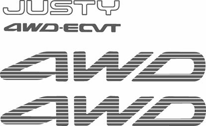 Picture of Subaru Justy 4WD-ECVT full Replacement Decals / Stickers