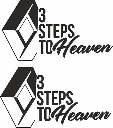 "Picture of Renault ""3 Steps to Heaven"" Decals / Stickers"