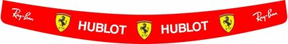 "Picture of ""Vettel / Raikkonien"" 2018 Ferrari full size Helmet Visor  Decal  / Sticker"