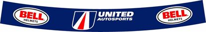 "Picture of ""Fernando Alonso"" 2018 Indy Car United Autosports full size Helmet Visor Decal  / Sticker"