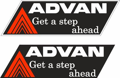Picture of Advan Get a Step Ahead Decals / Stickers