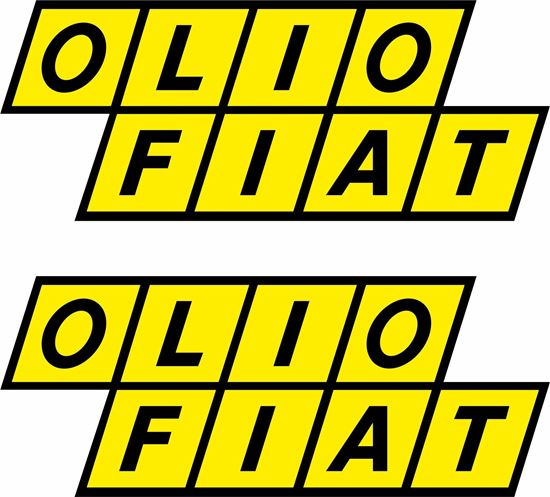 Picture of Fiat 131 Olio Abarth Rally classic Stickers / Decals