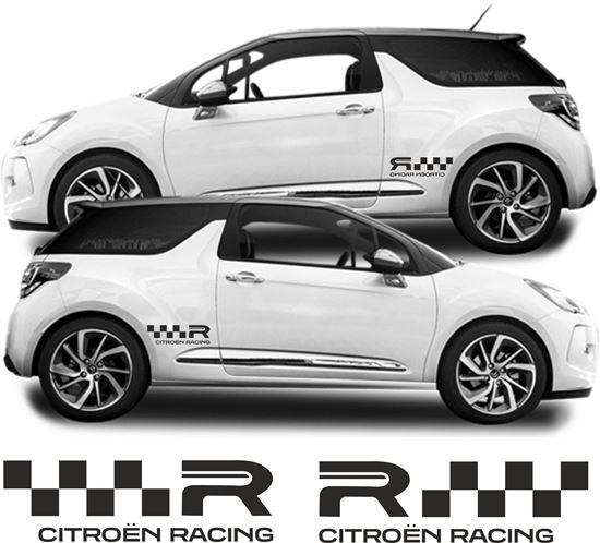 "Picture of Citroen DS3 ""R""  Side  Decals / Stickers"