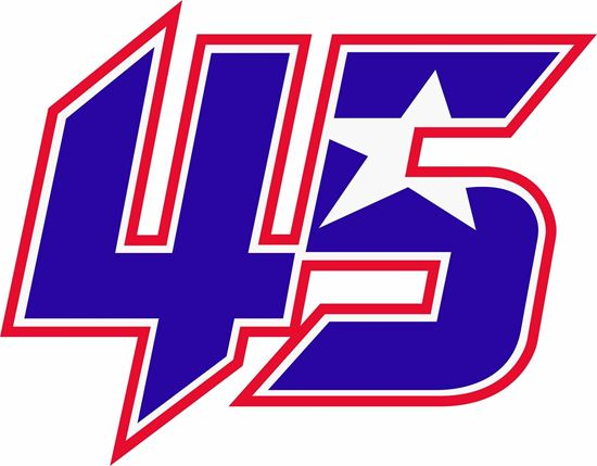 "Picture of ""45"" Scott Redding Track and street race nose cone number Decal / Sticker"