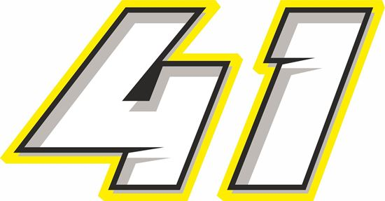 """Picture of """"41"""" Brad Binder Track and street race nose cone number Decal / Sticker"""