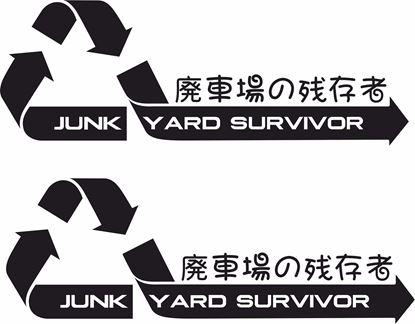 """Picture of """"Junk Yard Survivor"""" JDM Decals / Stickers"""