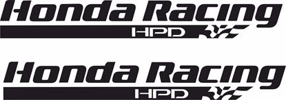 "Picture of ""Honda Racing HPD"" Decals / Stickers"