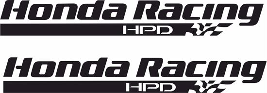 """Picture of """"Honda Racing HPD"""" Decals / Stickers"""