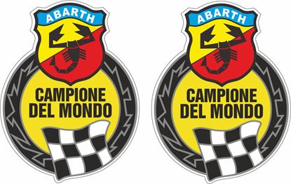 Picture of Fiat Abarth Chapione Del Mondo Decals / Stickers