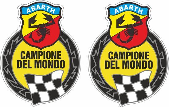 Picture of Fiat Abarth Chapione Del Mondo Decals / Stickers