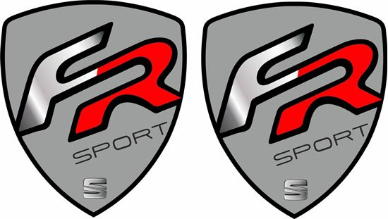 """Picture of Seat """"FR"""" wing Decals / Stickers"""