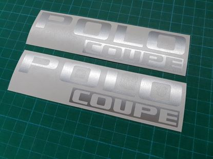 Picture of Polo Coupe MK2 rear Badge restoration overlay Decal / Sticker