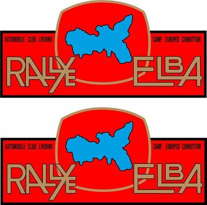 """Picture of """"Rally Alba""""  Decals / Stickers"""