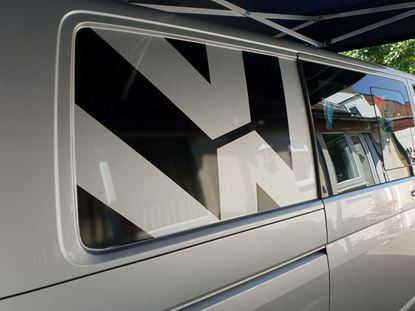 """Picture of VW  T5 / T6  side rear panel """"VW""""  Decals / Stickers"""