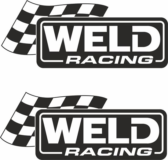 """Picture of """"Weld Racing""""  Decals / Stickers"""