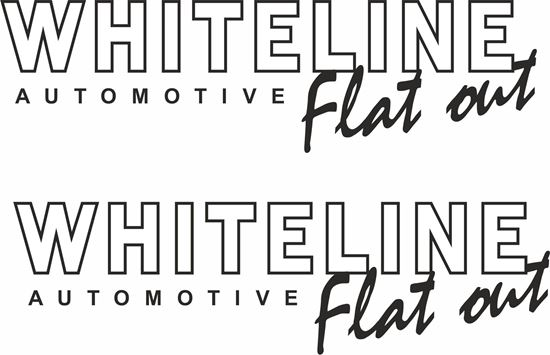 """Picture of """"Whiteline..."""" Decals / Stickers"""