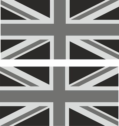 Picture of Land Rover Union Jack wing / Panel  Decals / Stickers