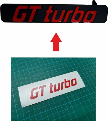 Picture of Renault 5 GT Turbo Phase 2 Grille Badge restoration overlay Decals / Stickers