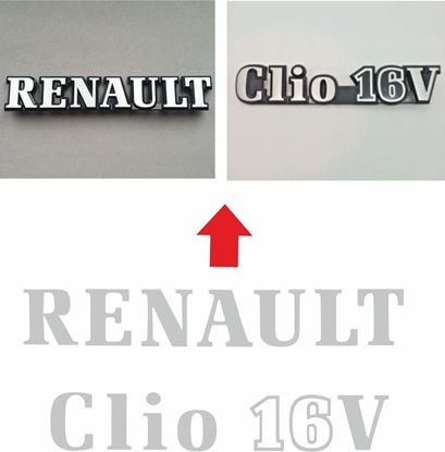 Picture of Renault Clio 16S 1.8 16V rear Badge restoration Decals / Stickers