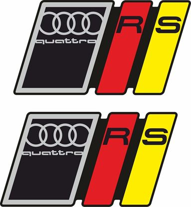 "Picture of ""Audi Quattro RS"" Decals / Stickers"