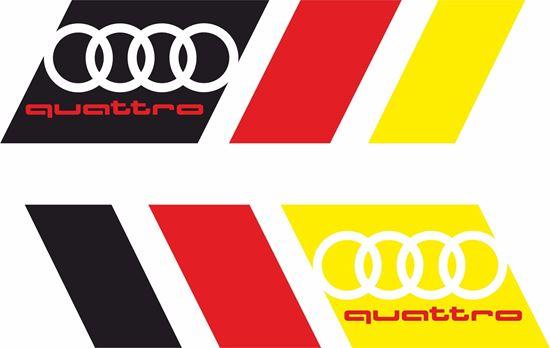 """Picture of """"Quattro"""" Decals / Stickers"""