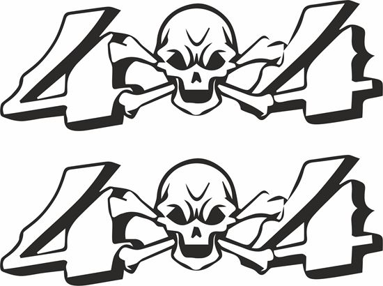Picture of 4x4  Skull  Decals  / Stickers
