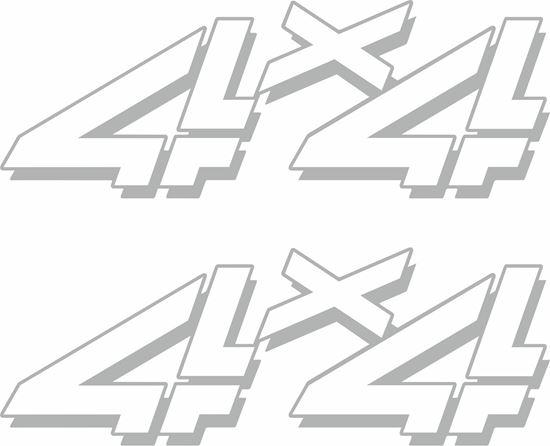 "Picture of Chevy Silverado / GMC Sierra HD ""4x4""Decals / Stickers"