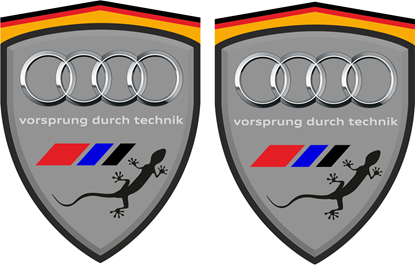 Picture of Audi Quattro Wing / Panel Decals / Stickers