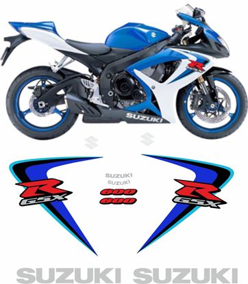 Picture of Suzuki GSX-R 600 K6 2006 replacement Decals / Stickers