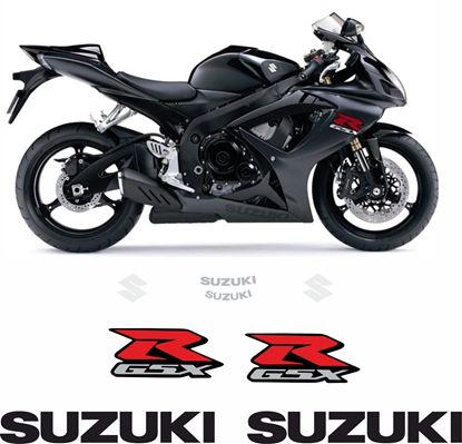 Picture of Suzuki GSX-R 600 K6 2007 replacement Decals / Stickers