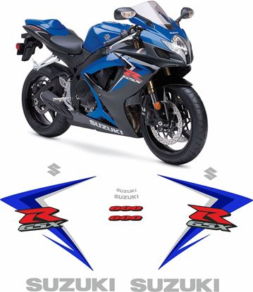 Picture of Suzuki GSX-R 600 K7 2007 replacement Decals / Stickers