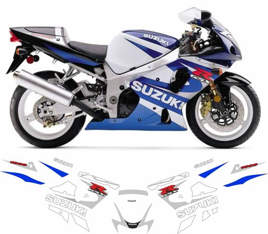 Picture of Suzuki GSX-R 1000 K1 2001 replacement Decals / Stickers