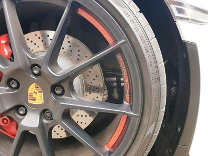 Picture of Porsche 981 Spyder Wheel insert Decals / Stickers