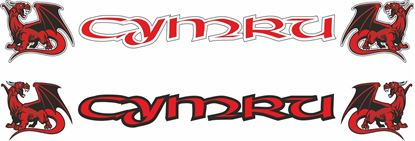 "Picture of ""Cymru"" windscreen / Panel  Decal / Sticker"