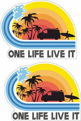 "Picture of ""One Life Live It"" Decals / Stickers"