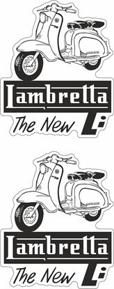 "Picture of Lambretta  ""Lambretta The New Li""  Decals / Stickers"