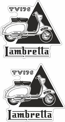 "Picture of Lambretta ""Lambretta TV175""  Decals / Stickers"