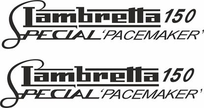 Picture of Lambretta 150 Special Pacemaker General Panel Decal / Stickers