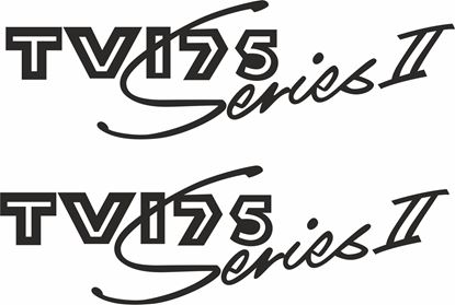 "Picture of Lambretta ""TV175 Series II"" General Panel Decal / Stickers"