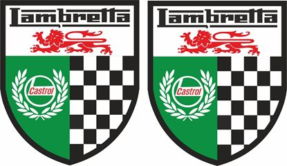 Picture of Lambretta Castrol Decals / Stickers