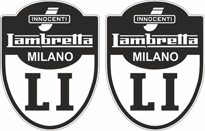 "Picture of Lambretta ""Innocenti Milano LI"" Decals / Stickers"