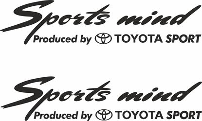 Picture of Toyota Sports Mind Decals / Stickers