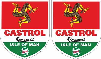 Picture of Vespa Castrol Isle of Man  Decals / Stickers