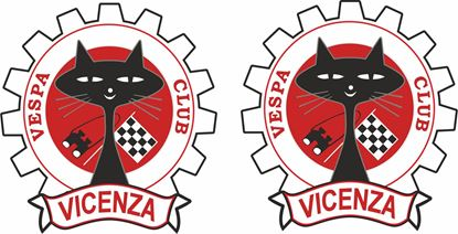 Picture of Vespa Club Vicenza Decals / Stickers
