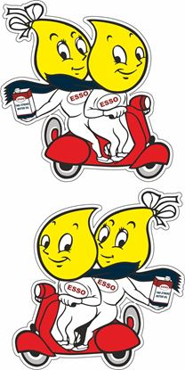 Picture of Lambretta / Vespa Esso Decals / Stickers