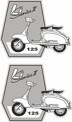 "Picture of Lambretta ""Li Series II""  Decals / Stickers"